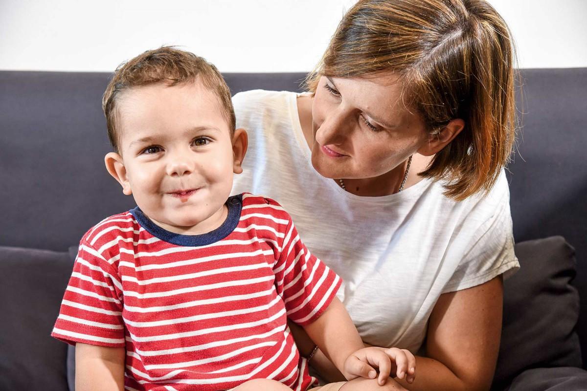 Verena Schrentewein mit Sohn Paul