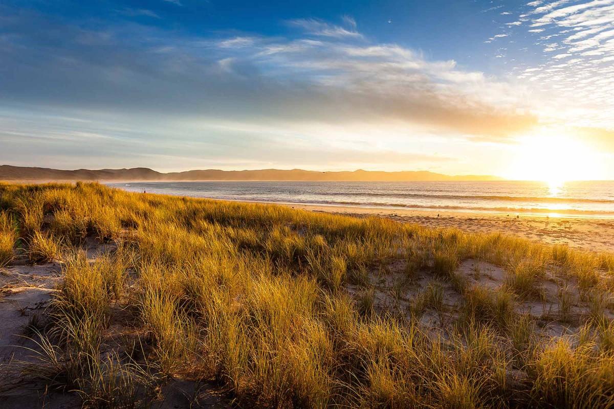 RoterRucksack Spirits Bay Neuseeland