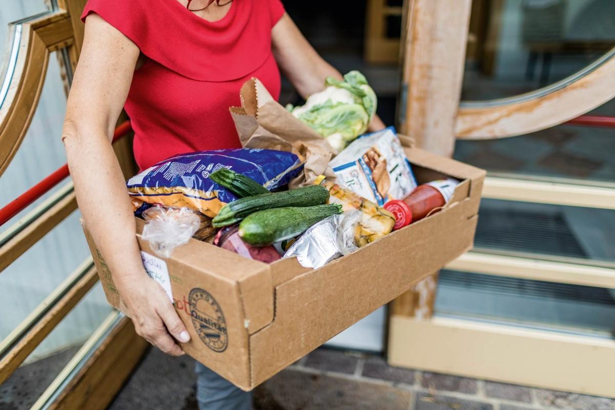 Lebensmittelpaket der Schlanderser Tafel