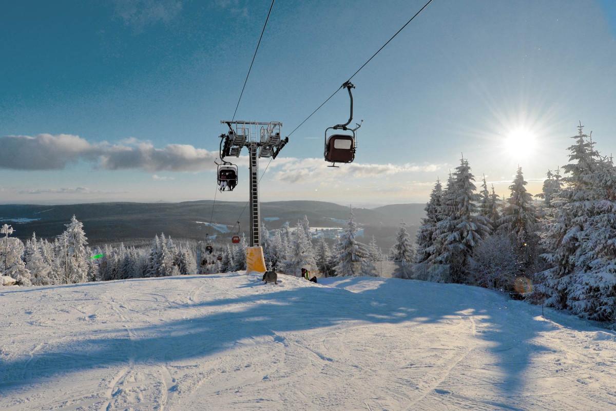Skigebiet im Winter